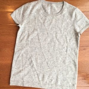 J crew factory cashmere sweater xs gray